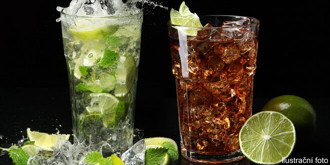 XXL drinky Cuba Libre, mojito či Finlandia loď
