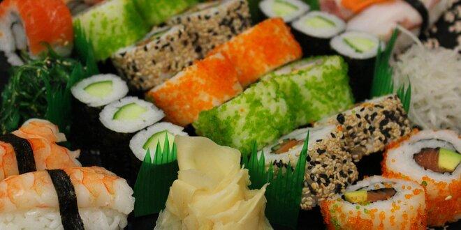 Čerstvé i smažené: 18 či 28 kousků sushi v setu