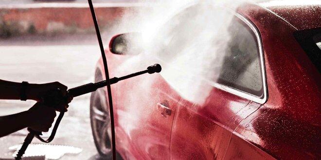 Čištění vozu, mytí pěnou i impregnace kol