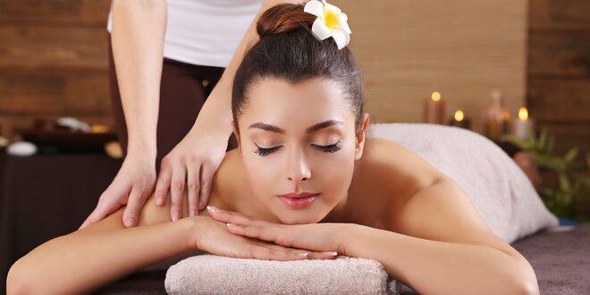 70 minut relaxu - výběr ze 4 luxusních masáží