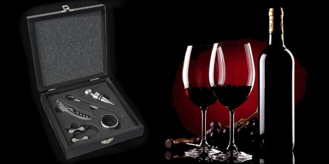 Sada 5 pomůcek v kazetě pro milovníky vína