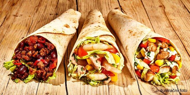 Tortilly a sendviče s masem i pro vegetariány