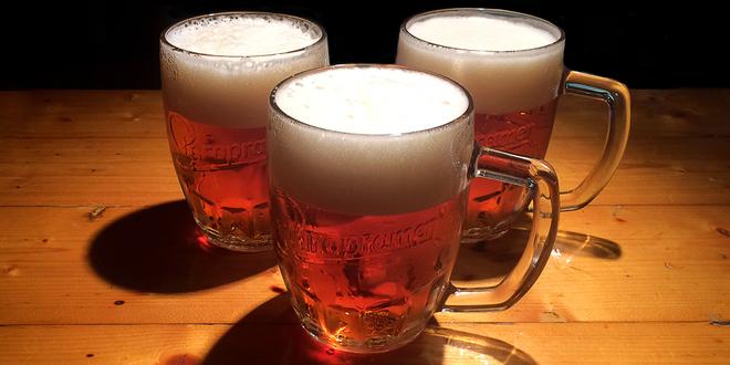 3× půllitr piva Staropramen 11° na Žižkově