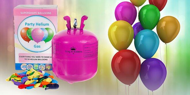 Helium včetně 30 nebo 50 balónků na párty