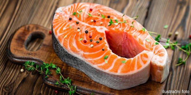 Steaky z divokého lososa keta v 5 kg balení