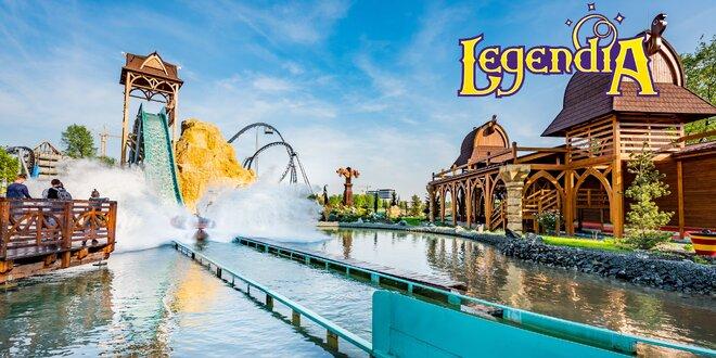Vstup do polského zábavního parku Legendia