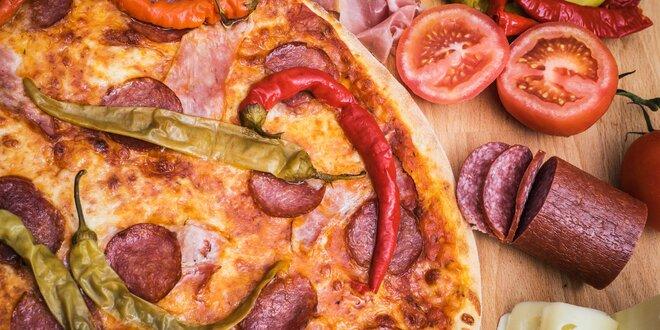 Pravá italská pizza a dobré pivo či limonáda