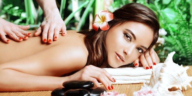 60minutová masáž – na výběr z 7 masáží