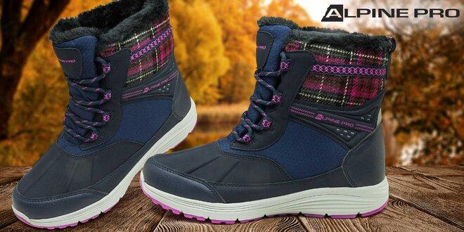 Kvalitní dámské zimní kotníkové boty Alpine