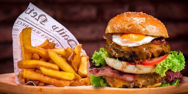 Vypečené Tower Burger menu s kvalitním masem