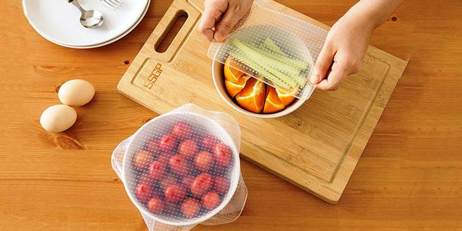 Silikonové pokličky pro zachování čerstvých potraviny