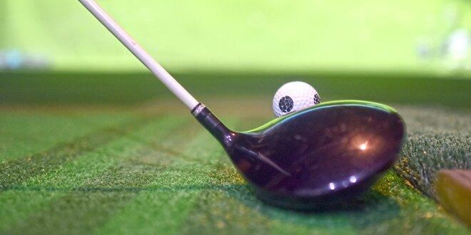 60minutový trénink na golfovém simulátoru