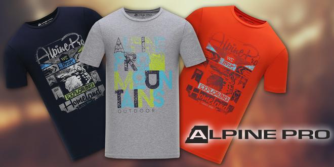 Pánská bavlněná trička Alpine Pro