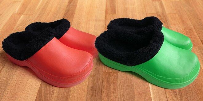 Dámské zateplené clogsy FLAMEshoes ze Slovenska