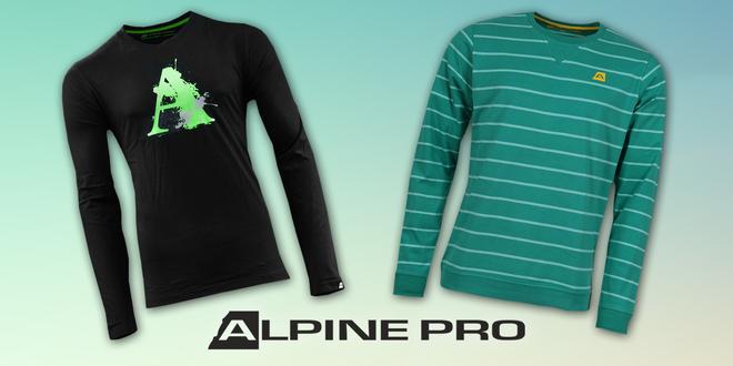 Pánská bavlněná trika s dlouhým rukávem Alpine Pro