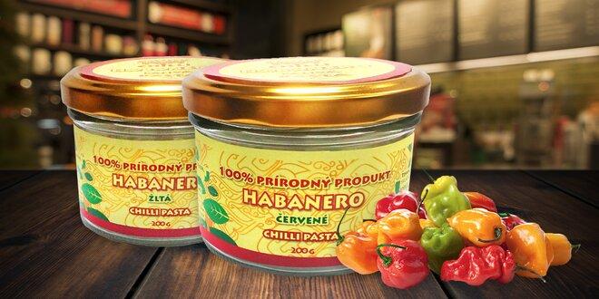 Pasta z mletých chilli papriček odrůdy Habanero