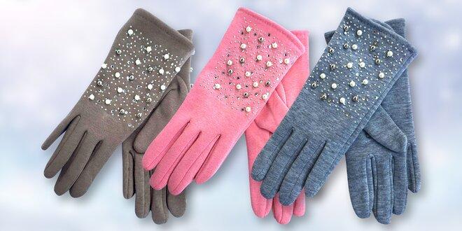 Dámské rukavice s perličkami