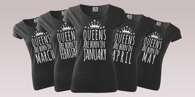 Dámské tričko s vtipným narozeninovým potiskem