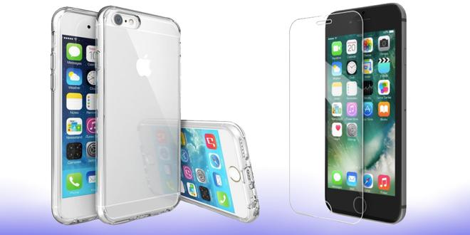 Tvrzená skla a barevná pouzdra pro iPhone 5 až 8