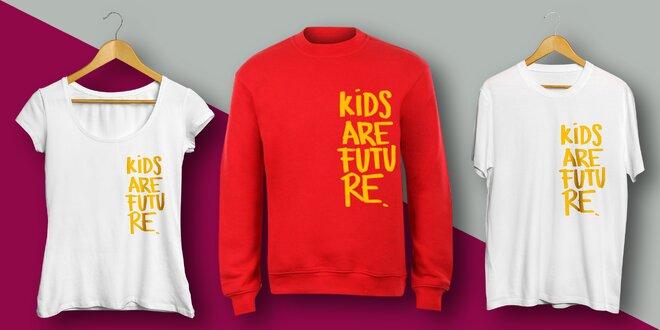 Podpořte Klokánky: Trička a mikiny Kids are future