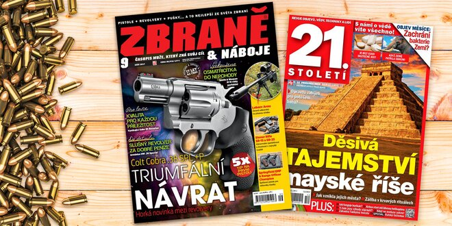 Předplatné časopisů Zbraně a náboje a 21. století