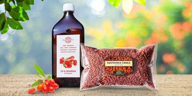 Zázračné Goji: přírodní šťáva i sušené plody