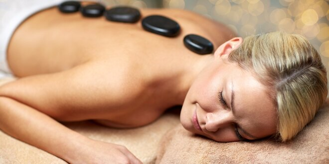 Masáž lávovými kameny: záda a šíje či nohy