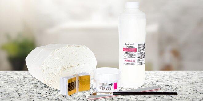 Modelovací UV gely na nehty a další pomůcky