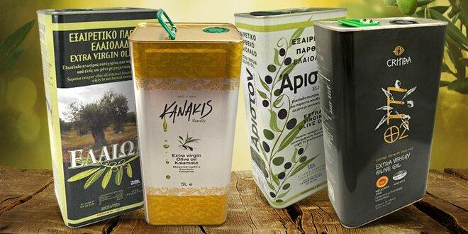 Prémiové řecké extra panenské olivové oleje