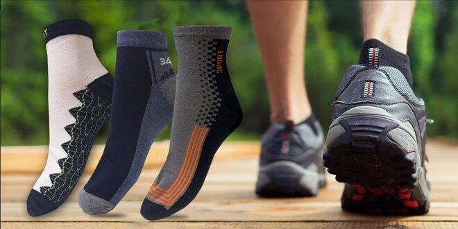 c6b1eec5783 6 párů pánských ponožek na treking i běžné nošení