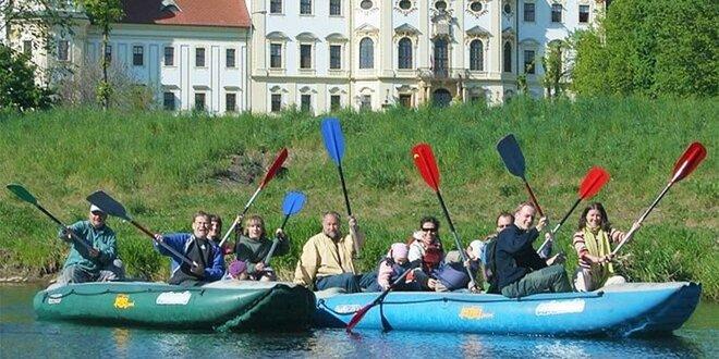 Plavba na raftech historickou Olomoucí i CHKO