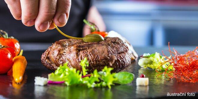 4hodinový kurz vaření: steaky, burgery i přílohy