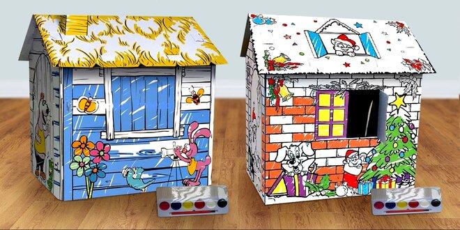 Dětský domeček na vymalování a vodové barvy