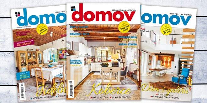 Roční předplatné časopisu Domov na rok 2018