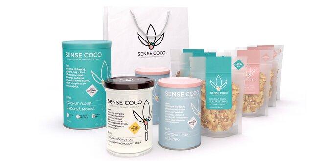 Taška plná 100% přírodních BIO produktů z kokosu