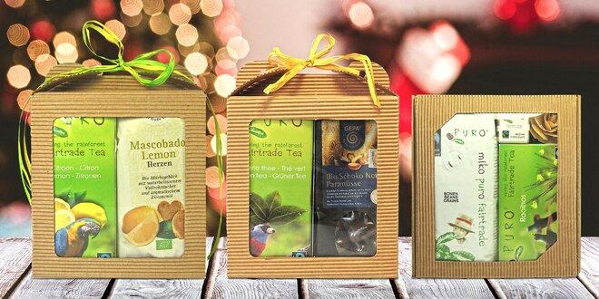 Fair trade dobroty: Čaje, čokoláda nebo sušenky