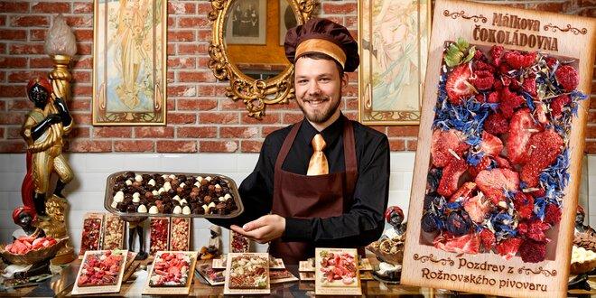 Ručně vyráběné Rothschildovy čokolády s věnováním