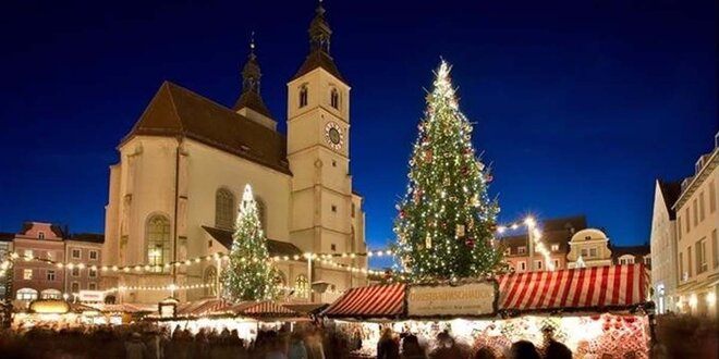 Vánoční trhy a prohlídka adventního Regensburgu