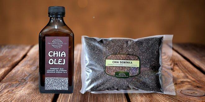 Potraviny plné zdraví: Chia mouka, olej, semínka