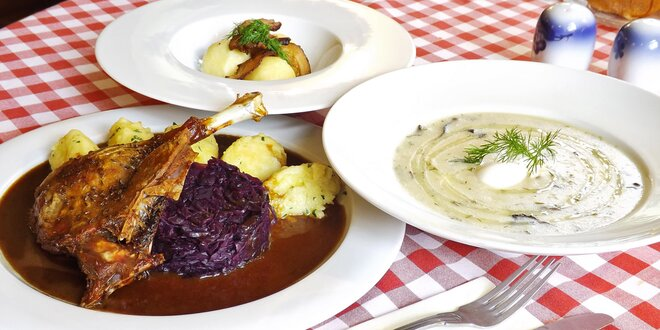Světová česká kuchyně: 3chodové menu pro dva