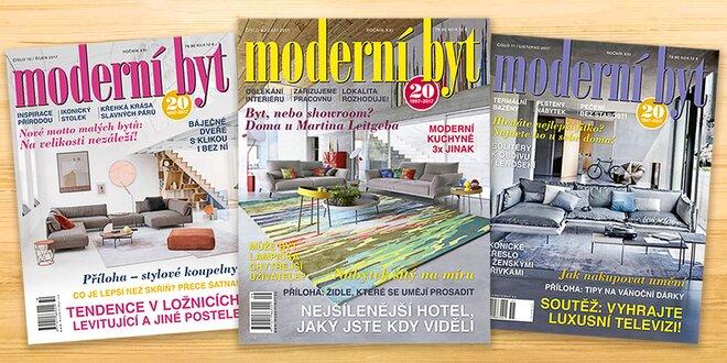 Roční předplatné časopisu Moderní byt 2018