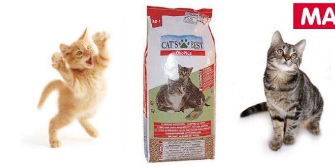 Prvotřídní kočkolit Cats Best ÖkoPlus se slevou 100 Kč!
