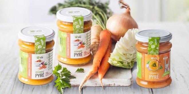 Zeleninové pyré plné vitamínů od českého výrobce