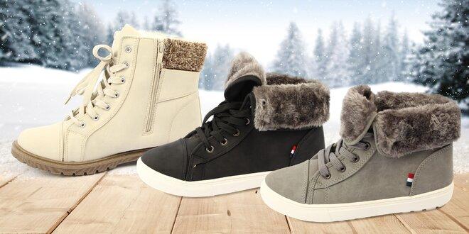 Nepromokavé dámské zimní boty