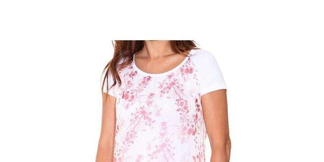 Dámské bílé dvouvrstvé tričko s červeným potiskem Sandalo
