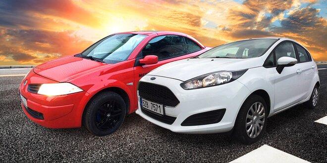Zapůjčení automobilu na 24 h: Renault nebo Ford