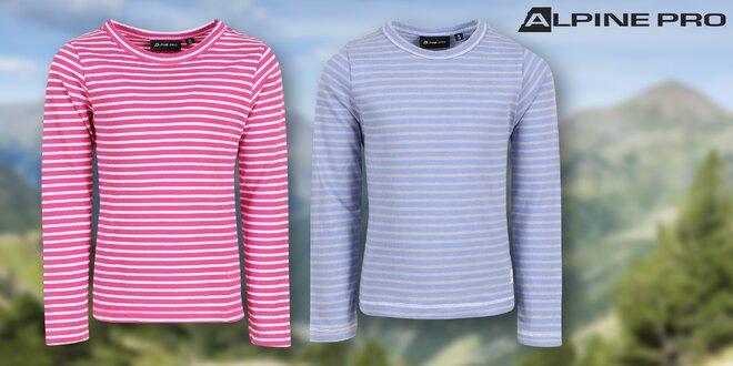 Dětská trička Alpine Pro s dlouhým rukávem