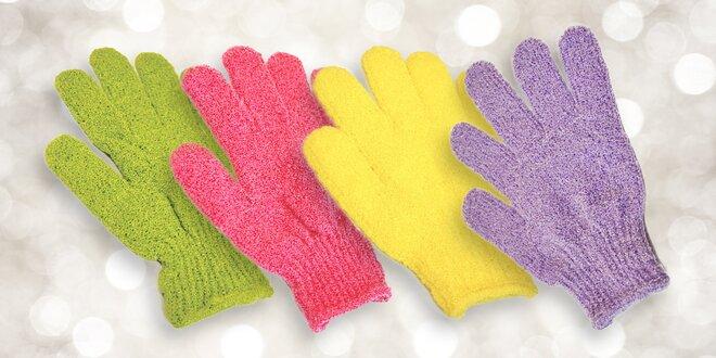 Peelingové rukavice na koupání i sprchování