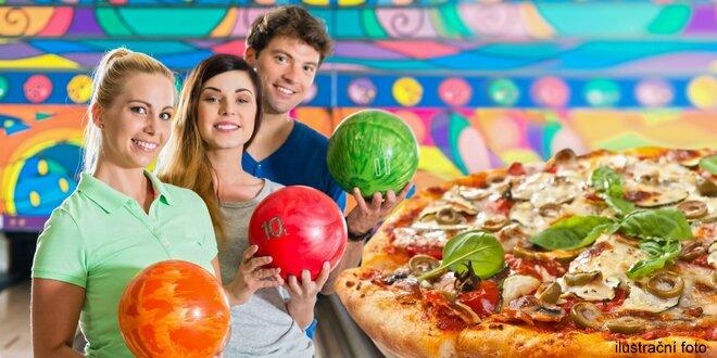 Pizza a bowling až pro 8 hráčů