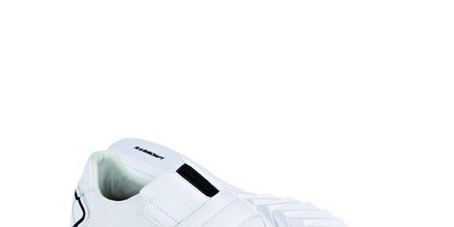 Pánské bílé kožené tenisky se suchými zipy Lacoste